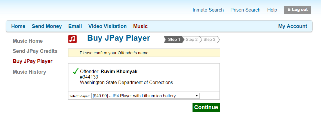 Buying a JPay Player